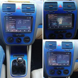Para Maçaneta Painel Volkswagen VW Golf GTI 5 MK5 Interior Central de Controle de fibra de carbono adesivos decalques do carro styling Acessó
