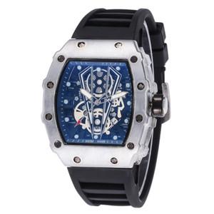 Vendita calda Mens Watch Luxury Orologi da polso Nero cinturino in silicone Fashion Designer Orologi Sport analogico al quarzo Relogio Masculino
