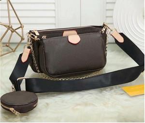 디자이너 럭셔리 핸드백 지갑 여성 좋아하는 미니 Pochette 3pcs 액세서리 크로스 바디 가방 Vintag 어깨 가방 가죽 핑크 컬러 스트랩