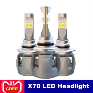 2PCS X70 H4 H7 H1 9005 9006 سيارة LED لمبة المصباح H11 H8 D1S D2S D4S حصان بقيادة مصباح رقاقة 120W 15600LM المصابيح الأمامية مصابيح الضباب 6000K