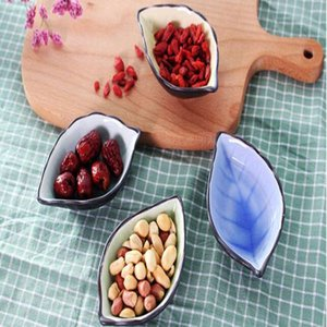 Лист керамика блюдце Многоцелевой приправа блюдо для кухни льда трещины глазури соус соус уксус посуда закуска блюдо