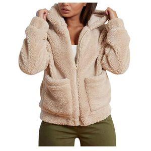 Womens Wintermantel Frauen Faux Pelzmantel Teddy Jacke Dicke Warme Fleecejacke Flauschige Jacken asiatische Größe