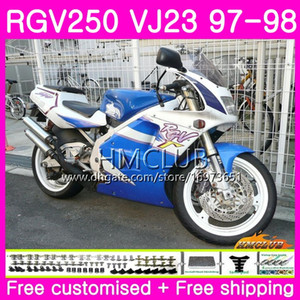 Bodys for SUZUKI SAPC RGV-250 VJ22 VJ21 RGV 250 97 98 99 Frame Top White Blue 19HM.88 RVG250 VJ23 RGV250 VJ 21 22 23 1997 1998 Fairing