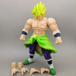 21 см японский аниме цифры Dragon Ball Z Броли супер Saiyan ПВХ фигурку модель игрушки для мальчика подарок