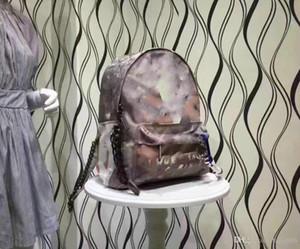 높은 품질의 낙서 인쇄 캔버스 배낭 로프 가방 자수 여러 가지 빛깔의 인쇄 캔버스 배낭 학교 가방 핸드백