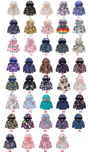 INS Bahar Çocuk mont Fermuar Ceket Erkekler Kızlar Karikatür Kapşonlu Coat Hızlı Kuru Çiçek Baskı Kamuflaj öğrencilerin Bebek Kabanlar iyi D21803