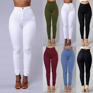 Kurze Frauen nehmen feste Hosen-reizvolle hohe Taillen-dünnen Stretch Fit-Bleistift-Hosen-reizvoller beiläufige Hosen-Qualitäts-heißen Verkauf