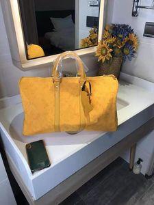 Ms Han Edition de Novo Masculino Alta Capacidade Saco de Viagem de Curta-Distância Trend Carta Single Ombro Handbagg Duffel Bags Homens Um Designer Bagg