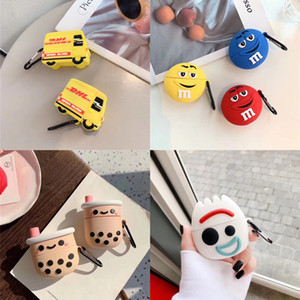 Newest Cute Style Silicone Case Waterproof for Apple AirPods Pro with Metal Buckle Multi Style Optional Earpbuds Case