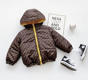 Luxus-Baby-Down-Baumwolljacke Baby Kapuzenmantel Kinder Kleidung warme starke Jacken Baby-Jungen-Kleidung Oberbekleidung