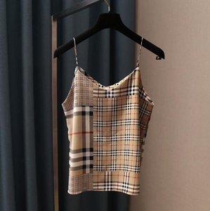 Halter Vest S-2XL frete grátis gatinho Lettering Printed V-Neck Sexy versátil com fina Shoulder Straps Mulheres
