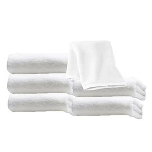 "White Ultra Soft Microfiber Terry Wash Cloth Facial Towels Size 19 1 2"" x 10"""