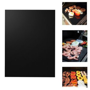 2pcs Non-stick BBQ Grill Mat Baking Mat Cooking Grilling Sheet Heat Resistance Easily Cleaned Kitchen Tools