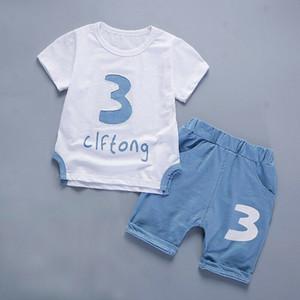 2019 nouveaux enfants vêtements de sport vêtements garçon bébé Ienensn, costume de vêtements pour enfants costume vêtements garçon T-shirt + short