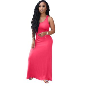 Selling Designers women solid color dresses European American explosions sexy slim long dress luxury positioning multicolor suspender skirts