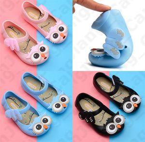 Insurgua de caricatura búho jalea princesa zapatos niños sandalias 2020 verano pvc suave abajo resbalón no sandal bebé niñas impermeable playa zapatos E31002