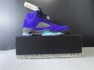 2020 New Good Quality 5 Alternate Grape Basketball Designer Shoes Grape Ice Black Clear New Emerald Fashion Sport Sneakers With Box 136027-