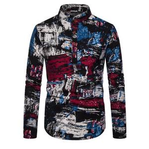Man Leisure Time Will Code Length Sleeve Shirt Man Self-cultivation Long Sleeve Shirt