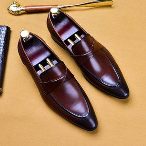 Hommes d'affaires élégante robe formelle Chaussures style italienne Parti confortable Prom Mocassins