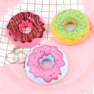 Squishy 7.5cm Kawaii douce parfumée spongieuse Donut lente Rebond squeeze Bun Décompression Jouet Accessoires pour téléphones Squishies Simulation Toy