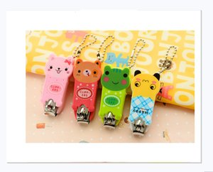 Cute cartoon animal nail clippers with key chain chain nail clippers manicure manicure nail clippers