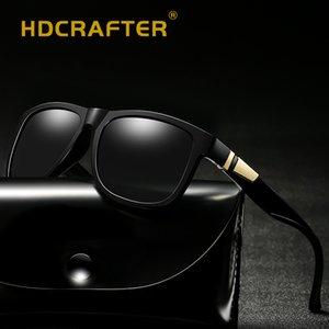 HDCRAFTER Brand Square Мужчины Зеркало поляризованные солнцезащитные очки очки вождения солнцезащитные очки для мужчин женщин Gafas