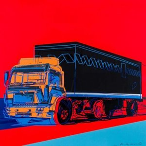 Энди Уорхол Картина маслом на холсте Pop Art Decor Wall Red Truck Wall Art Home Decor ремесла / HD Печать 191021