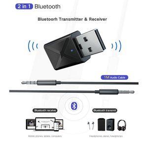 2 in1 Bluetooth Receiver Transmitter 3,5 mm AUX Bluetooth 5.0 Adapter für Kopfhörer Lautsprecher Wireless Audio Transmitter TV