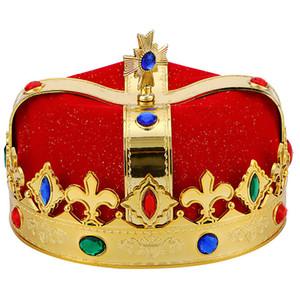 Fashion King Crown Hat Cosplay Prop filhos adultos Mostrar Chapéu de Festa rei príncipe herdeiro Decoração Party Supplies New Chegue