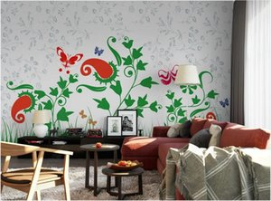 3d wallpaper custom photo murals Simple flower living room bedroom wallpaper wallpaper background wall stickers homedecor wall art pictures