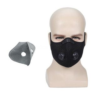 Free DHL Ship!100 1Pcs Breathable Face Mouth Outdoor Headscarf 12*8Cm Pm2.5 5-Layer ed Activated Carbon Mask QAEF3C