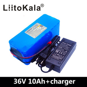 LiitoKala 새로운 36V 10AH 리튬 배터리 팩 18650 리튬 이온 42V 10000mAh 10s4p 대용량 전기 자전거 충전기 2AH를 BMS