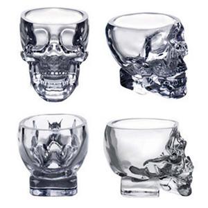 Хрустальная голова черепа Водка Рюмка для вина Рюмка для питья 80 мл Скелет Пиратская вакуумная пивная кружка