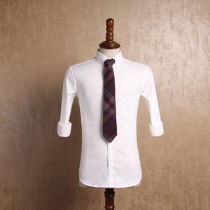 White Cotton Men Formal Shirts Wedding Sark Business Bridal Groomsman Western Style Blazers Bridegroom Businessmen Underlinen