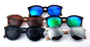 Nova fábrica de pés 3 mais 2 primavera direta polarizada madeira pé óculos de sol retro rodada quadro anti-reflexo desenhador rodada óculos de sol barata