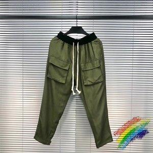 Calças Sweatpants 1 Alta Qualidade Army Men Mulheres elástico na cintura costura Militar Calças Jogger