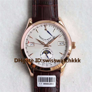 Top Q151842A mens watches Power reserve week month Moonphase Display Swiss Cal.924 Automatic Sapphire Crystal Rose Gold Case Mens Watches