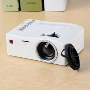 Original Unic UC18 Mini LED Projektor Tragbare Pocket Projectors Multi-Media Player Heimkino Spiel Unterstützt USB TF Beamer 10 STÜCKE