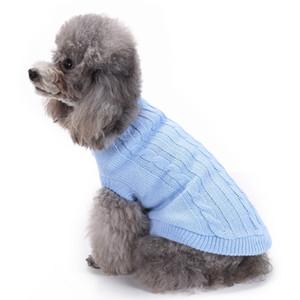Pet mezcla de lana o acrílico Classic Cable de punto suéter del perro suéter del perro perro tejer patrón de suéter de ganchillo