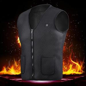Homens Mulheres Winter aquecida Jacket USB Outdoor elétrica térmica ajustável Brasão Temperatura Colete Vest roupas tamanho Caminhadas