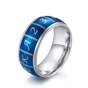 Romantico Lucky Blue Spinner Poker Rings Anelli in acciaio inossidabile per gli uomini Regali di San Valentino1