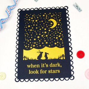luxury animation catoon rabbit star night hollow laser cut Pearl paper envelop birthday dinner party wedding invitaion Free Shipping