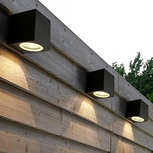 Breve LED Cube Wall Light Waterproof interior da superfície exterior Mounted Lamp