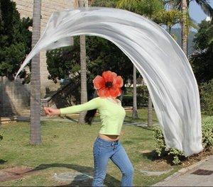 1pcs Veil soie + 1 Pcs Poi chaîne boule femmes danse du ventre de la soie Veil Poi Streamer Stage Prpos