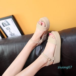 Сандалии PU мода новый комфорт высокий каблук 4 см большой 44 45 46 47 48 49 маленький 31 32 33 Женская обувь размер 30-50 z07