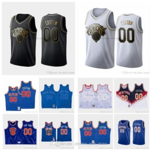 BenutzerdefiniertNeuYorkKnicks 13 Morris 30 Randle 9 Barrett 1 Portis 23 Robinson Männer Frauen Jugendliche 19/20 Basketball Jerseys 04