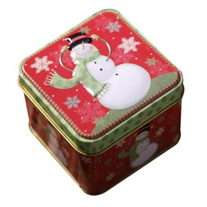 Square Bump Candy Box Christmas Decorations Storage Iron Box Christmas Candy Cans Children'S Gift Bucket Hat Cover Printing