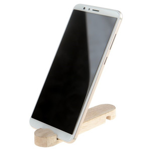 Natural Bamboo Long 12.2cm Wooden Holder Stand Multifunction Custom Logo Wooden Cell Phone Accessories For iPhone For Tablet