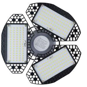 Estoque em US 60W LED LED Garagem Luz Alta Baía Iluminação IP65 À Prova D 'Água 80W LED Canopy Luzes para Workhouse Workshop Hall Lobby Iluminação