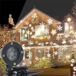 LED 크리스마스 빛 실외 방수 눈송이 램프 프로젝터 조명 잔디 무대 정원 장식 EU / US / UK / AU 플러그